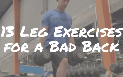 13 Leg Exercises For A Bad Back